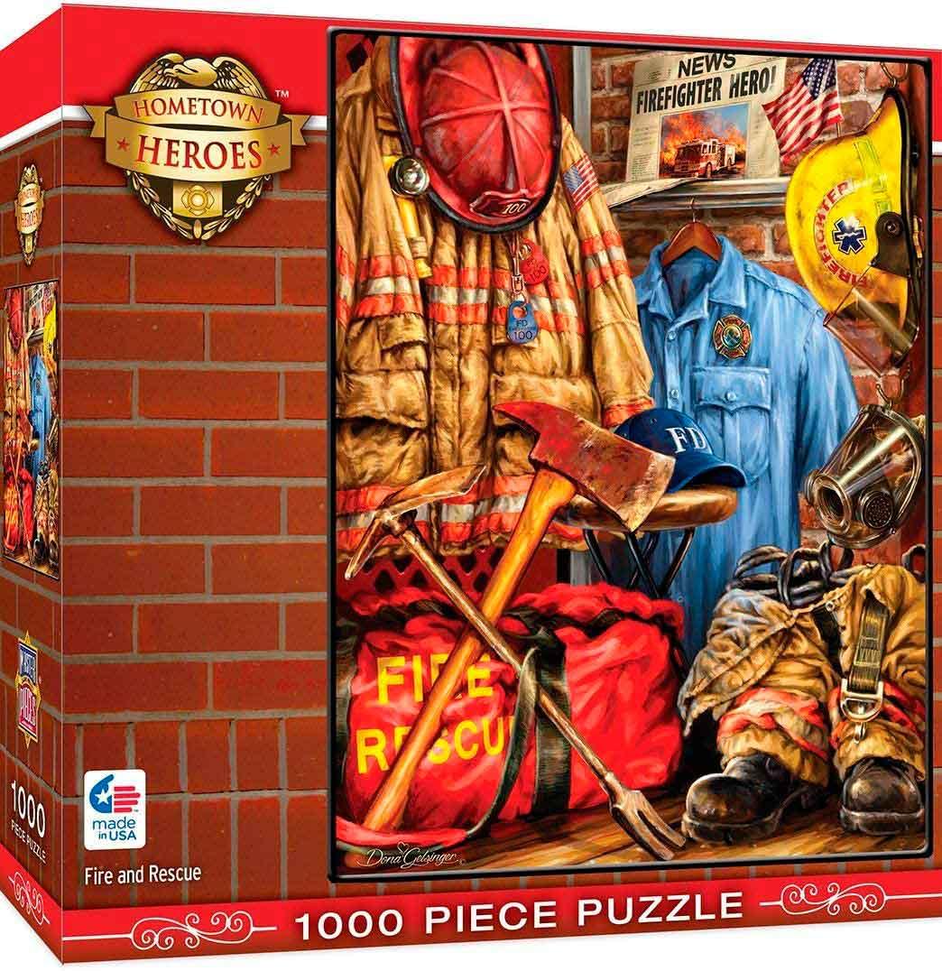 Puzzle MasterPieces Fuego y Rescate (Hometown Heroes) de 1000 P