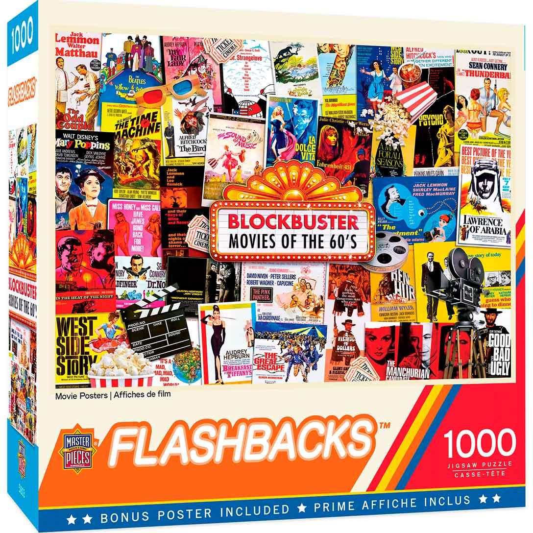 Puzzle MasterPieces Afiches de Películas de 1000 Piezas