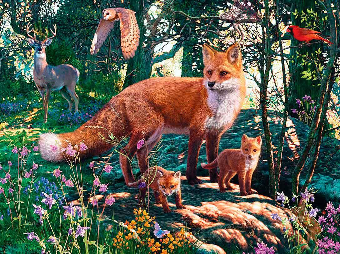 Puzzle MasterPieces Animales del Bosque de 550 Piezas
