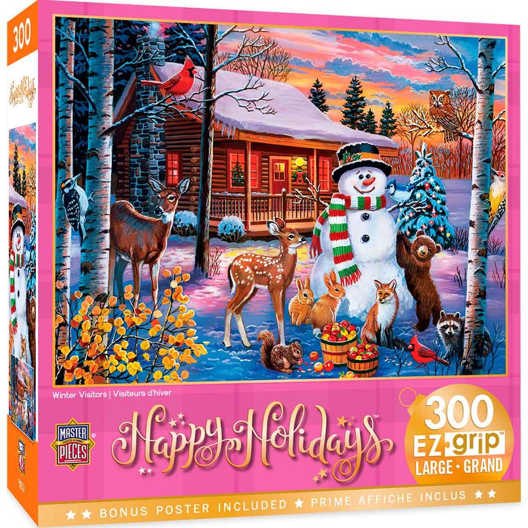 Puzzle MasterPieces Animales en Navidad XXL de 300 Piezas
