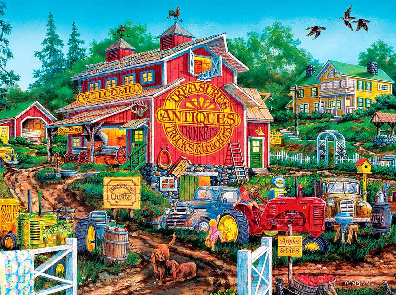 Puzzle MasterPieces Antiguo Granero de 550 Piezas