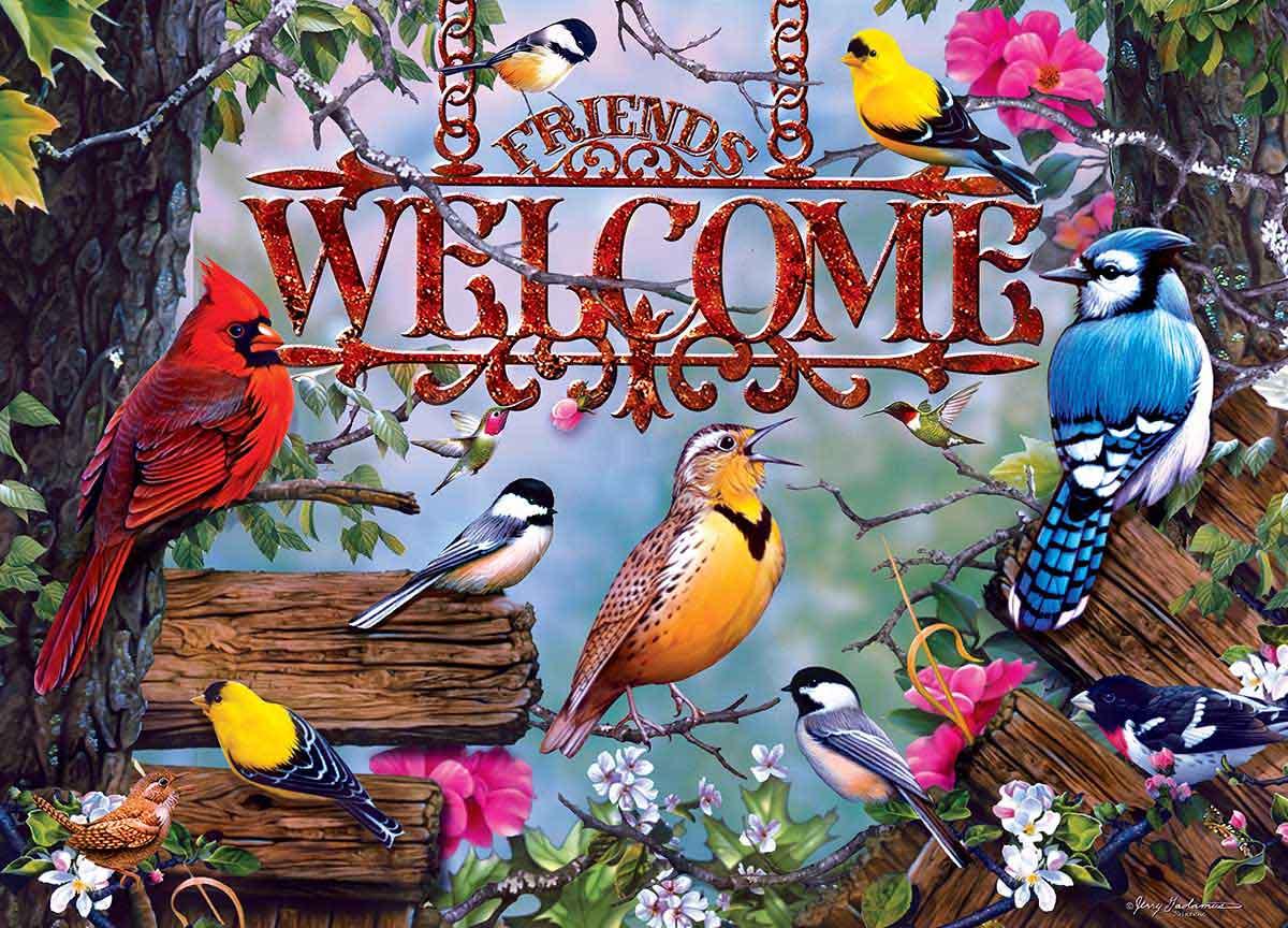 Puzzle MasterPieces Bienvenida con Pájaros de 1000 Piezas
