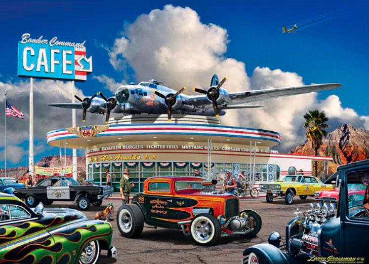 Puzzle MasterPieces Bomber Command Café de 1000 Piezas
