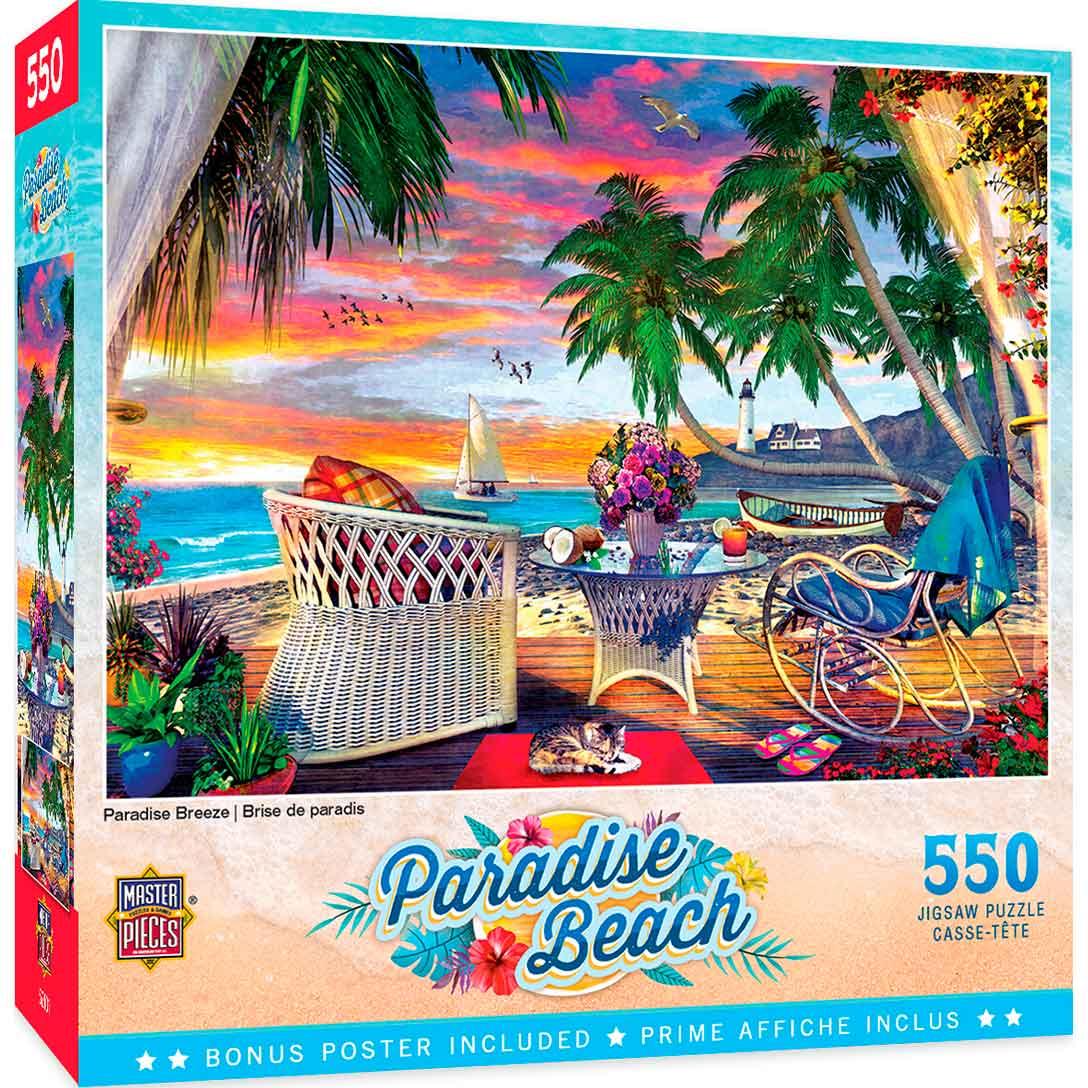 Puzzle MasterPieces Brisa del Paraíso de 550 Piezas