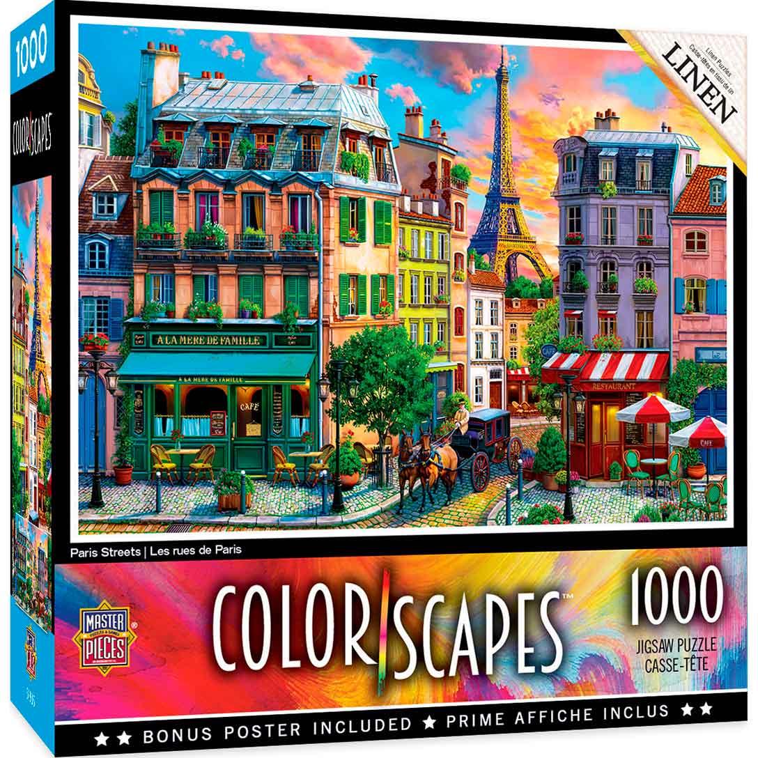 Puzzle MasterPieces Calles de París de 1000 Piezas