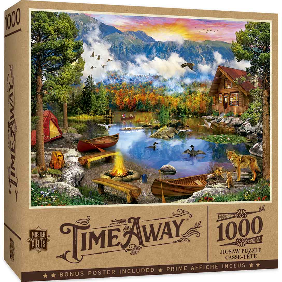Puzzle MasterPieces Canoas al Atardecer de 1000 Piezas