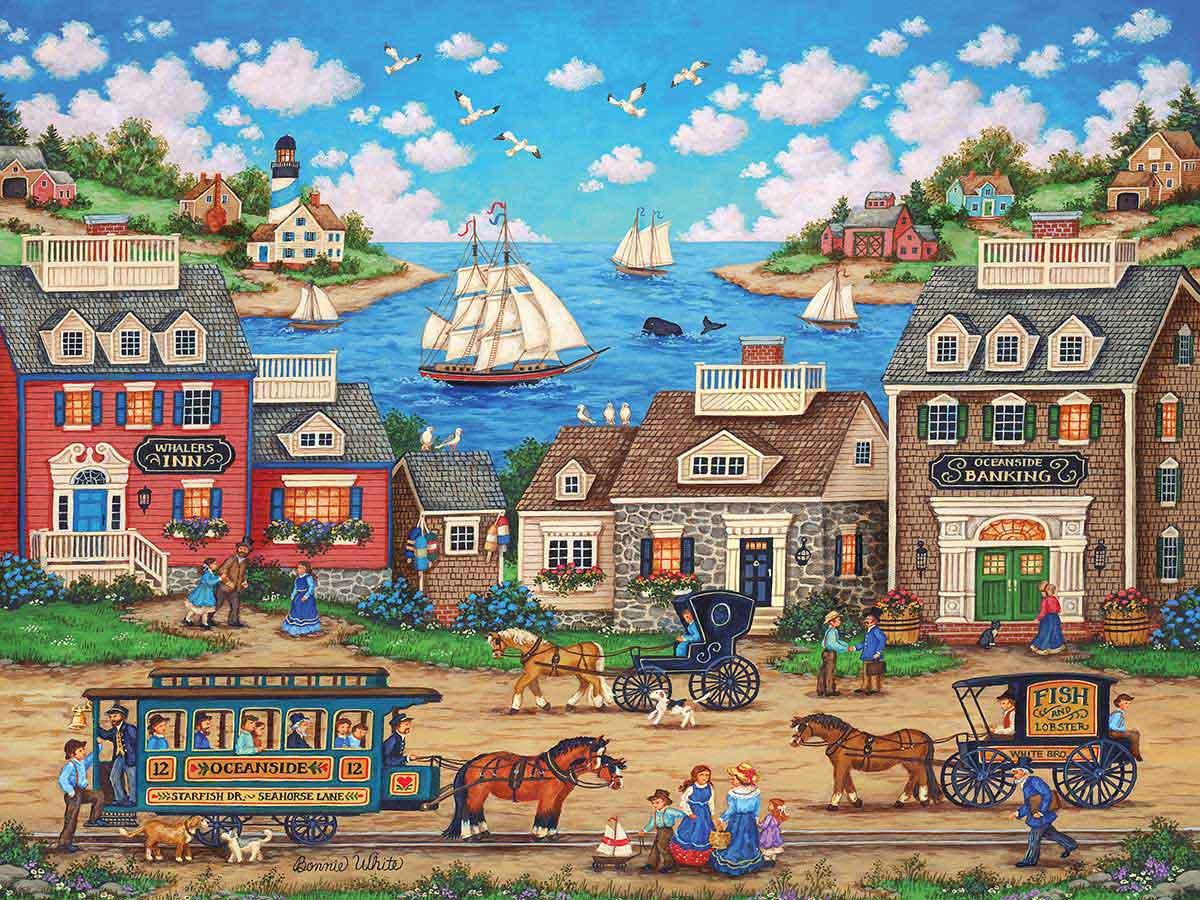 Puzzle MasterPieces Carruaje Junto al Mar de 550 Piezas