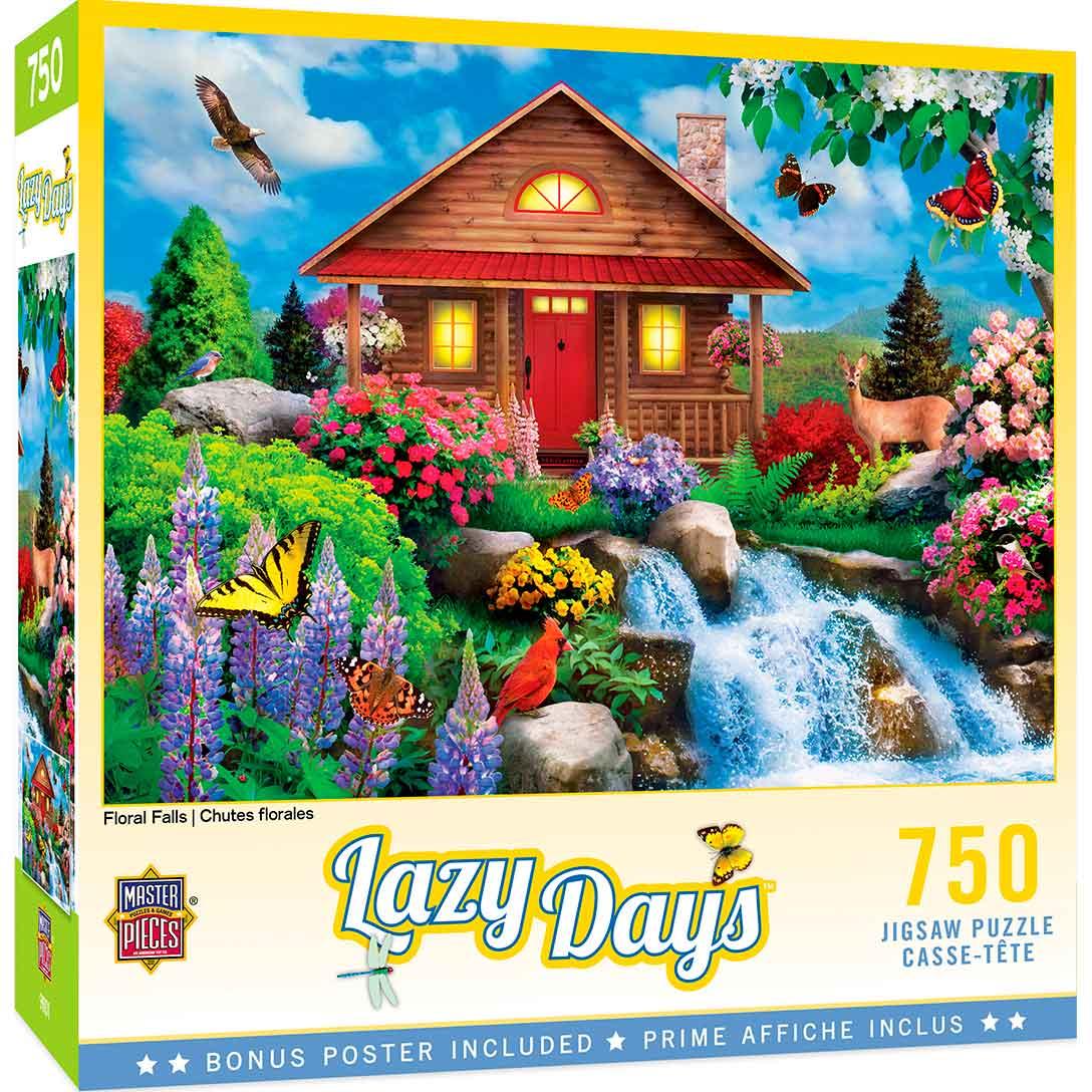 Puzzle MasterPieces Cascada y Flores de 750 Piezas