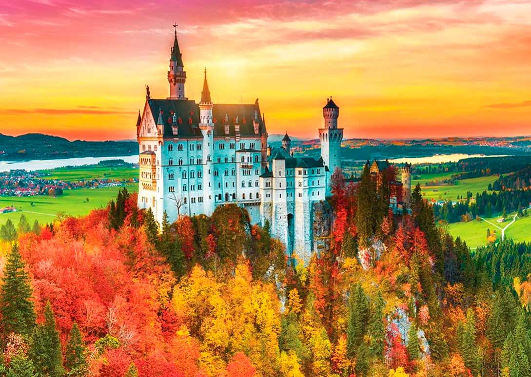 Puzzle MasterPieces Castillo Neuschwanstein en Otoño de 1000 Pzs