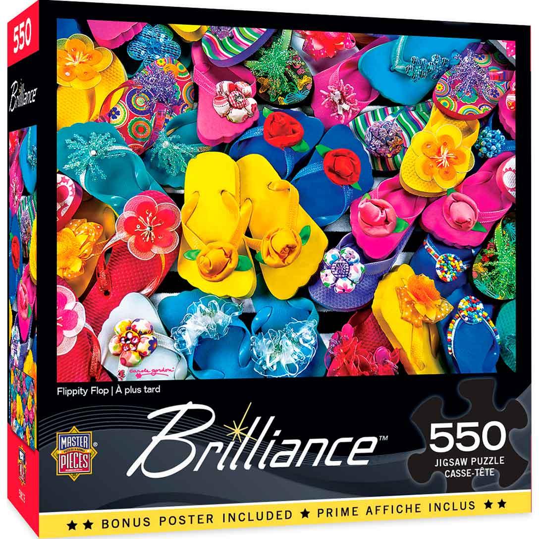 Puzzle MasterPieces Chanclas de Colores de 550 Piezas