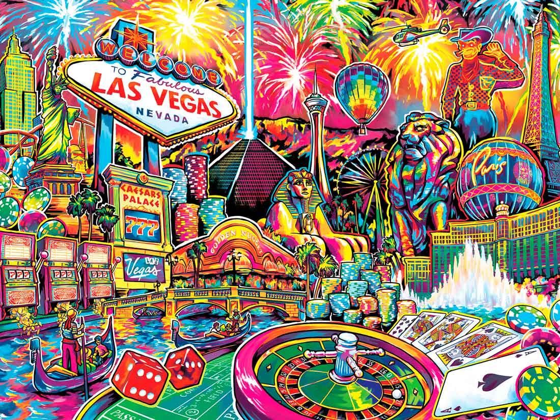 Puzzle MasterPieces Collage de Las Vegas de 550 Piezas