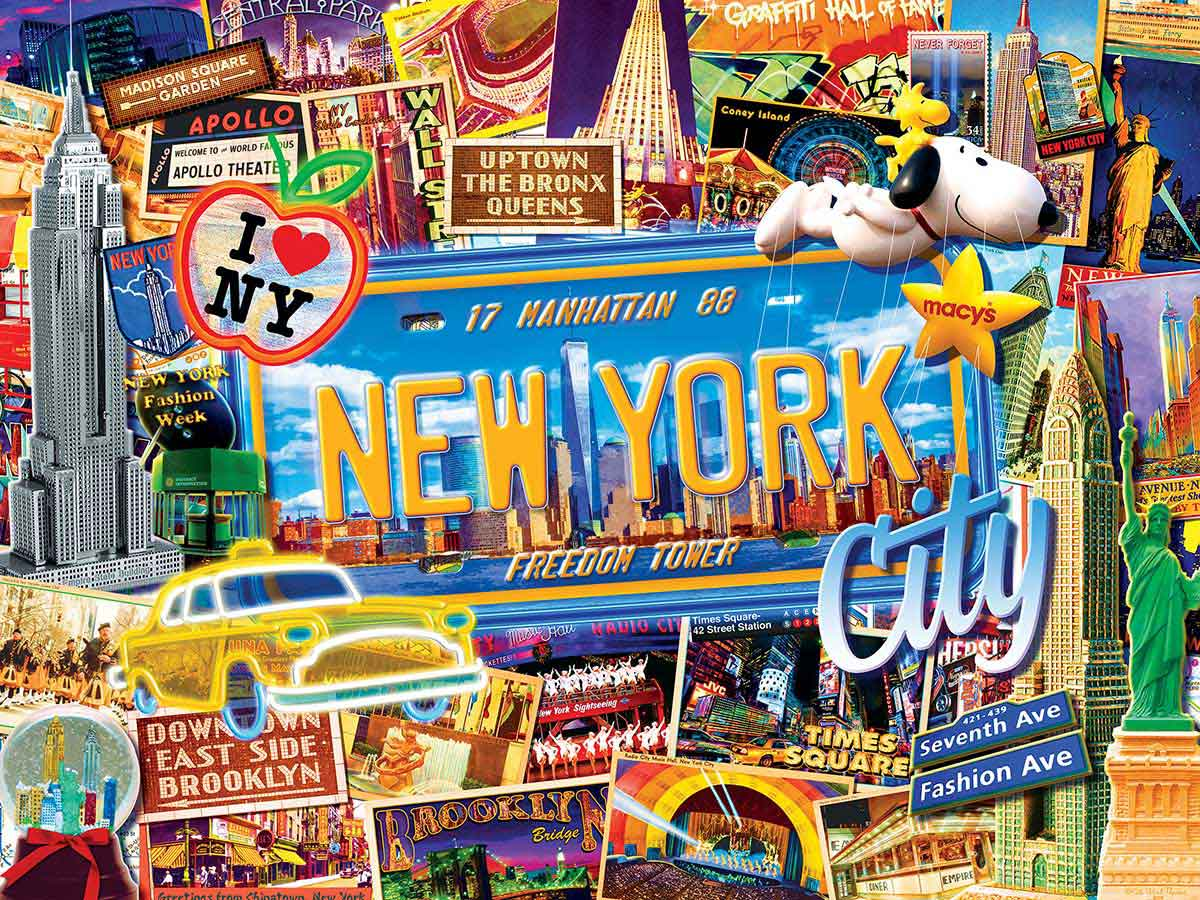 Puzzle MasterPieces Collage de Nueva York de 550 Piezas