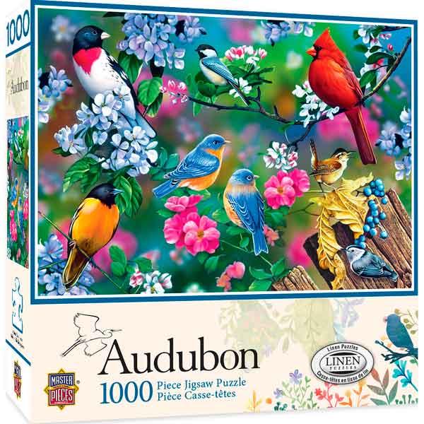 Puzzle MasterPieces Collage de Pájaros Cantores de 1000 Piezas