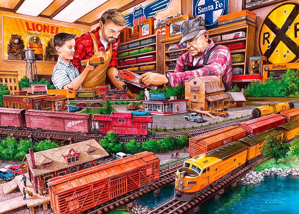 Puzzle MasterPieces Comprando Trenes a Lionel de 1000 Piezas