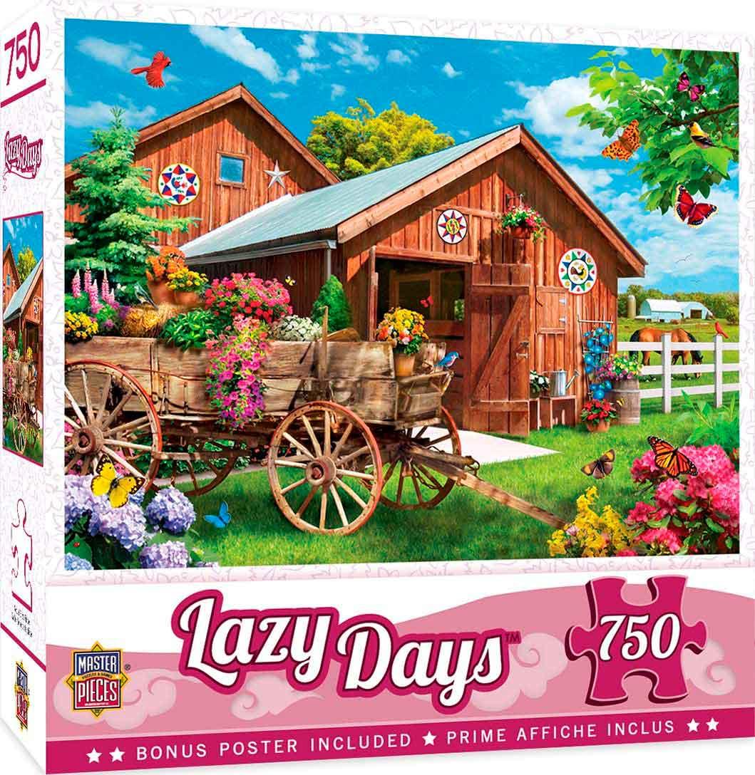 Puzzle MasterPieces Corriendo a la Granja de Flores de 750 Pieza