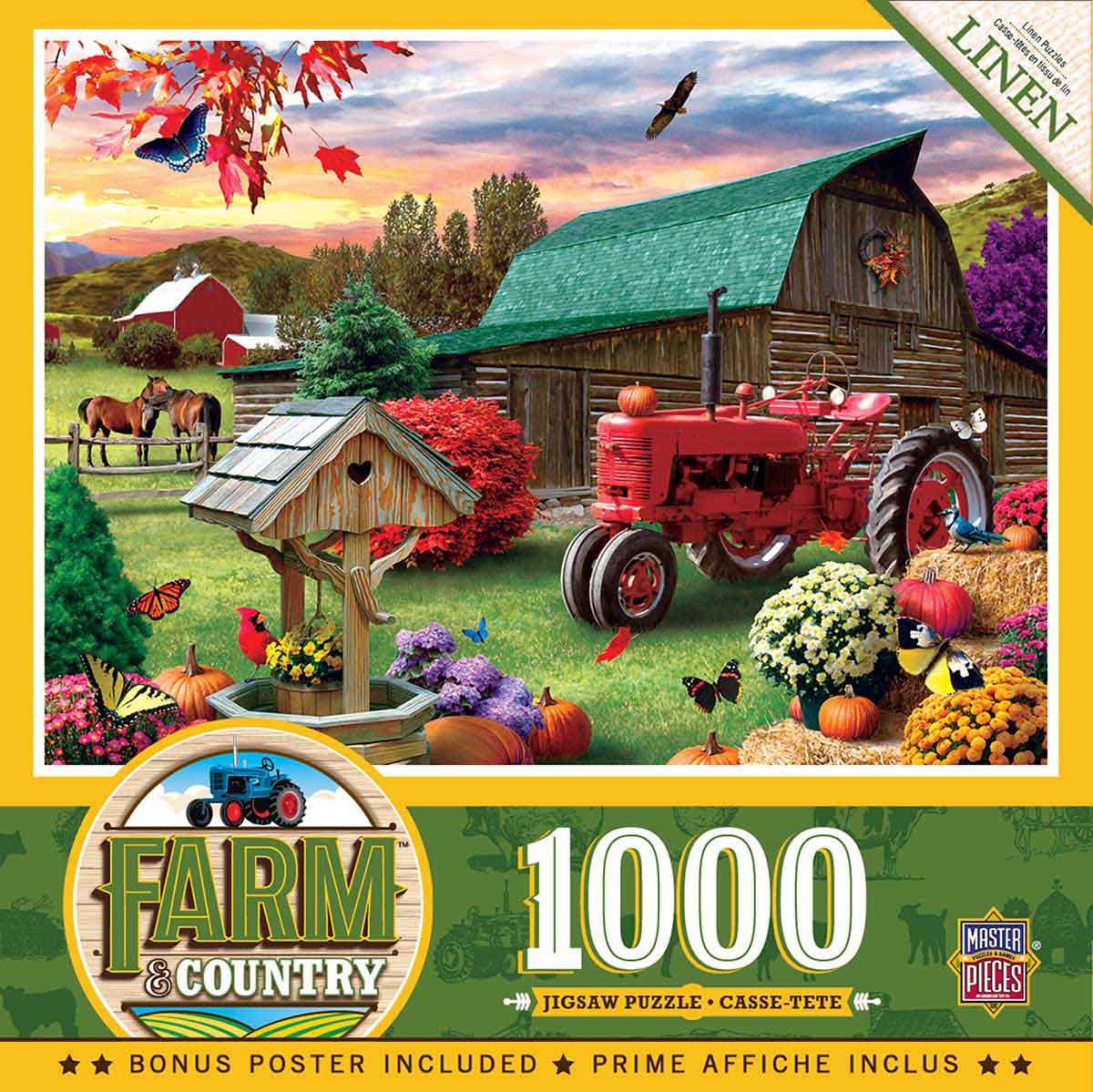 Puzzle MasterPieces Cosecha en el Rancho de 1000 Piezas