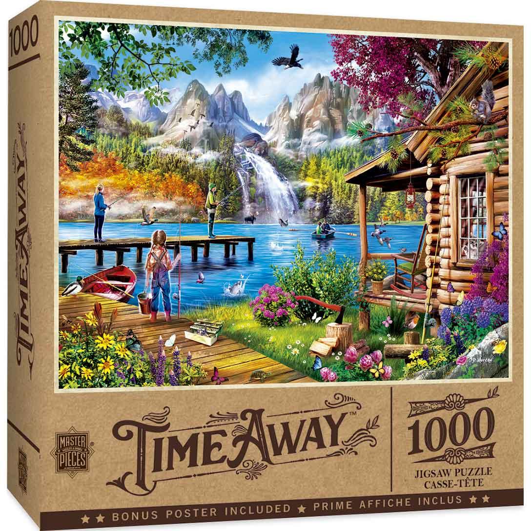 Puzzle MasterPieces De Pesca en el Lago de 1000 Piezas