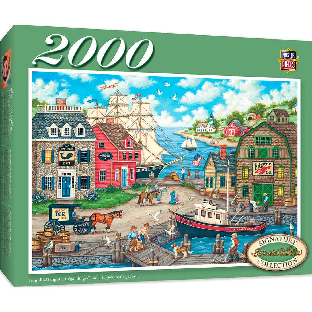 Puzzle MasterPieces Delicias Para Las Gaviotas de 2000 Piezas