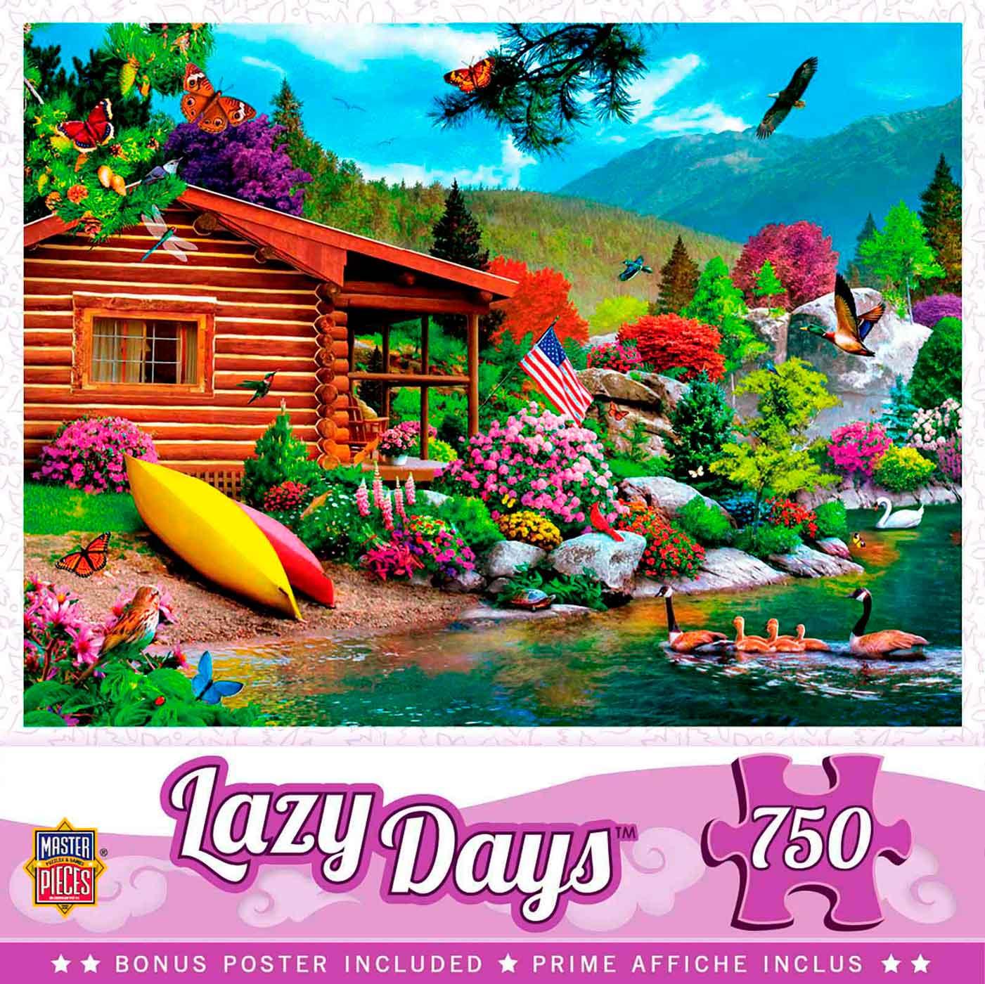 Puzzle MasterPieces Días Tranquilos, Libre Para Volar de 750 Pzs