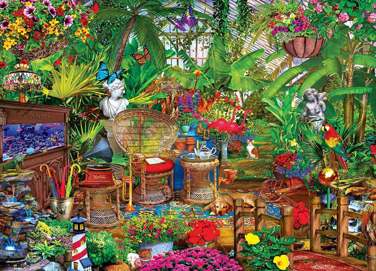 Puzzle MasterPieces El Escondite del Jardín de 1000 Piezas