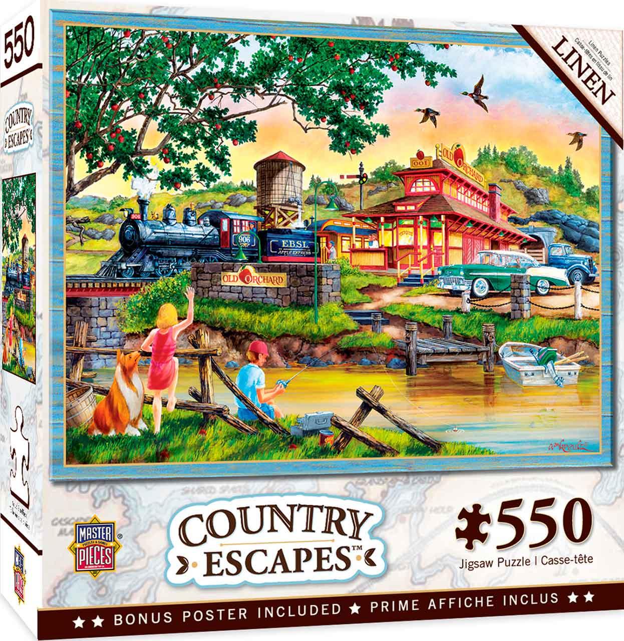 Puzzle MasterPieces El Expreso de las Manzanas de 550 Piezas