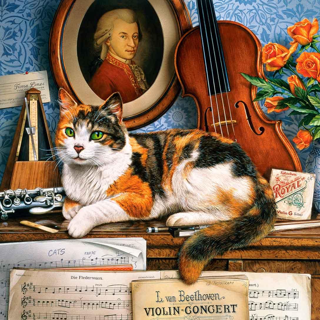 Puzzle MasterPieces El Gato de la Música de 1000 Piezas