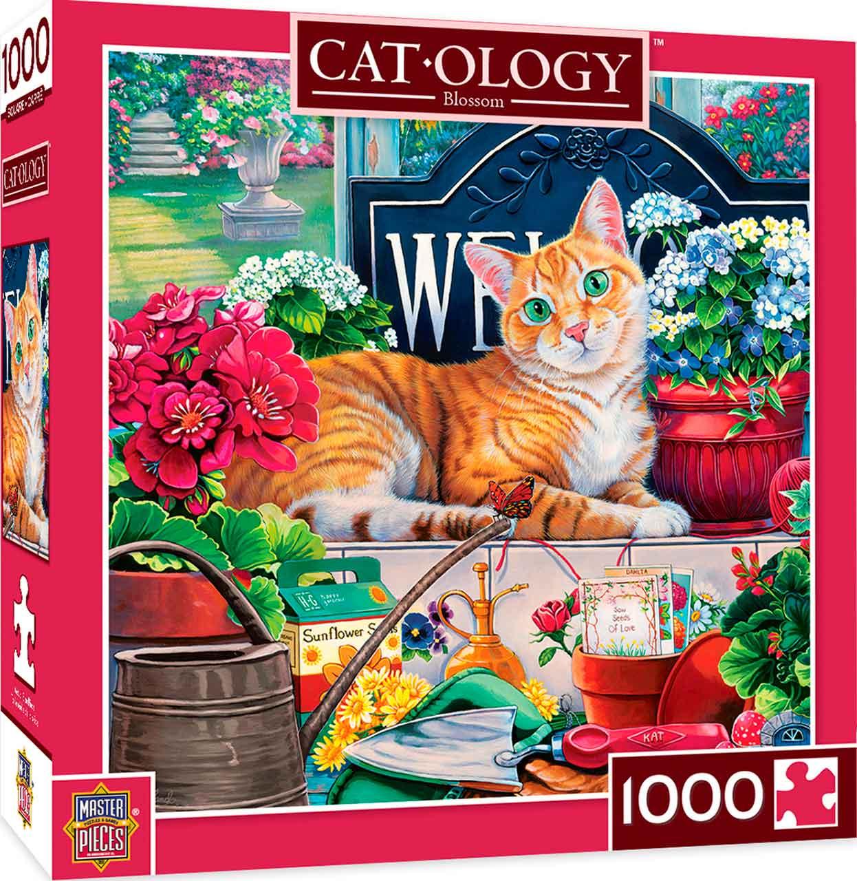 Puzzle MasterPieces El Gato de las Flores de 1000 Piezas