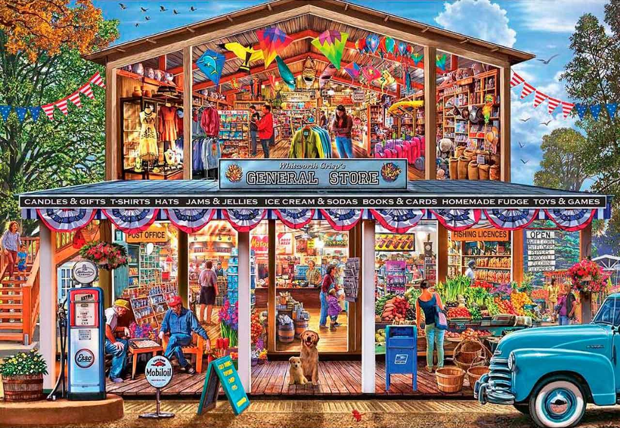 Puzzle MasterPieces El Mercado de mi Ciudad XXL de 1000 Piezas