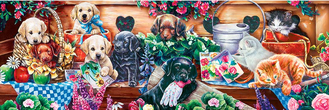 Puzzle MasterPieces El Patio con Caja de Flores de 1000 Piezas