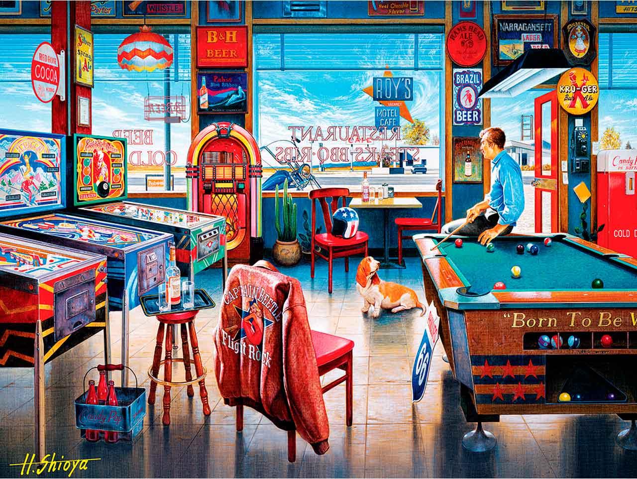 Puzzle MasterPieces El Pub de Los Billares de 550 Piezas
