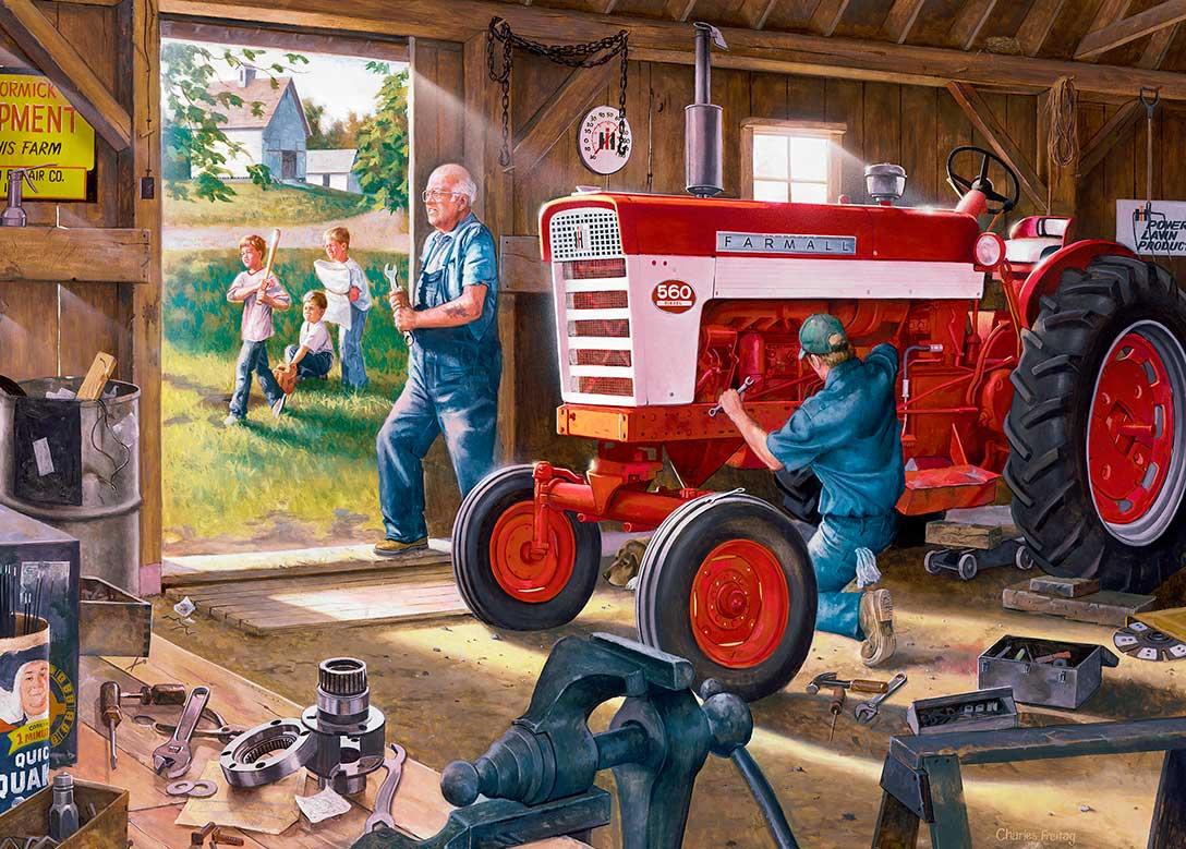 Puzzle MasterPieces El Tractor Rojo de 1000 Piezas