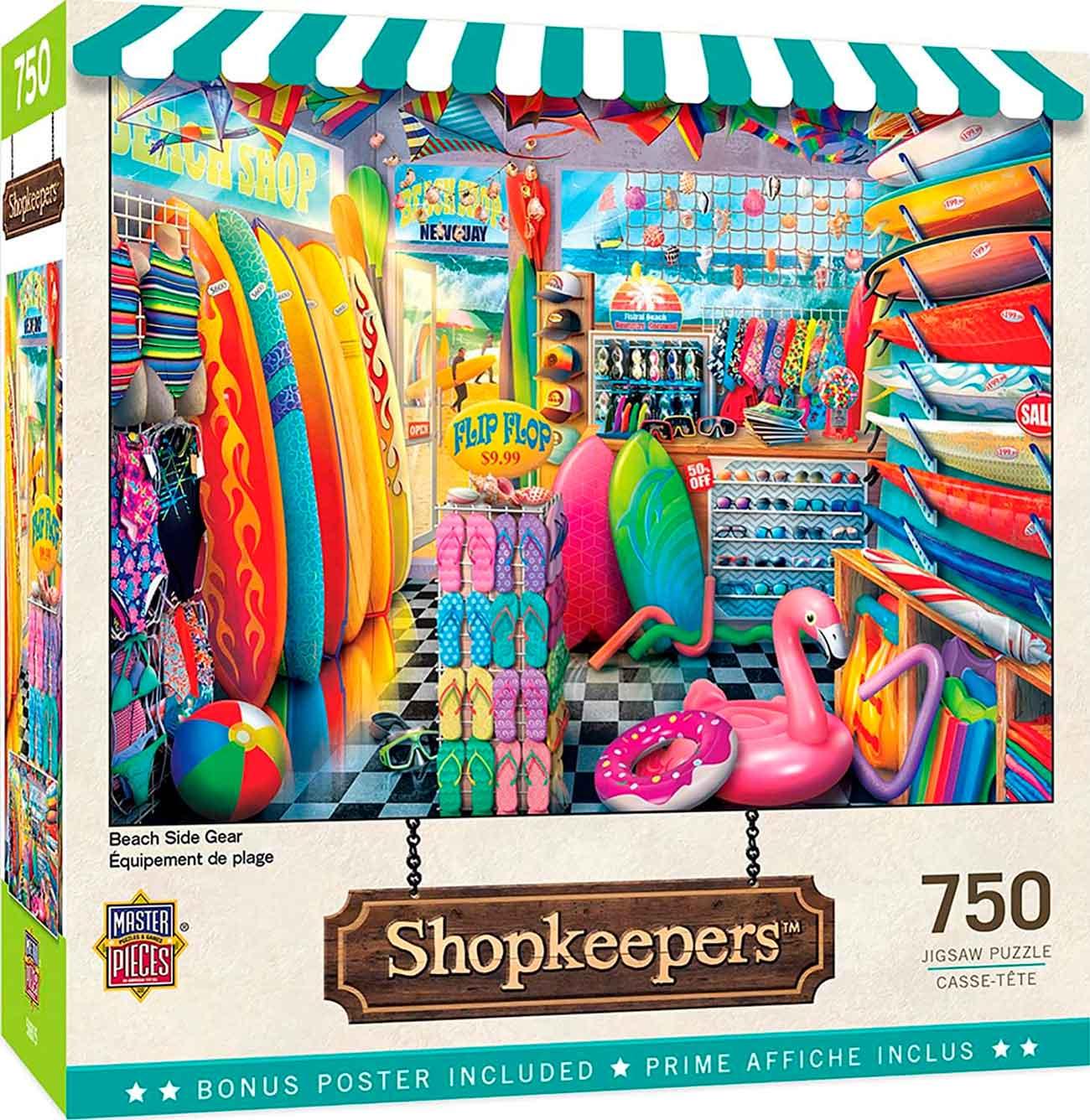Puzzle MasterPieces Equipos de Playa de 750 Piezas