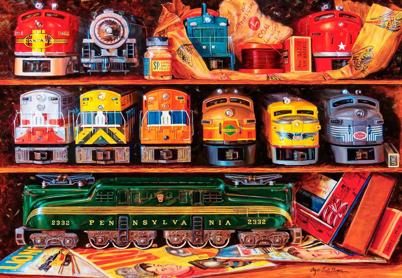 Puzzle MasterPieces Estantes Llenos de Trenes de 2000 Piezas