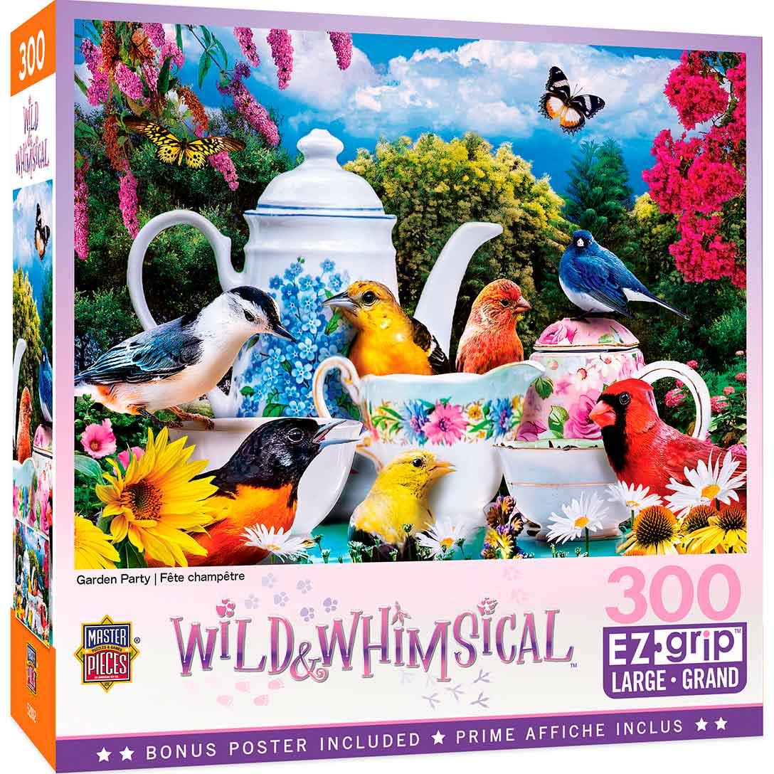 Puzzle MasterPieces Fiesta de Pájaros en el Jardín XXL de 300 Pz