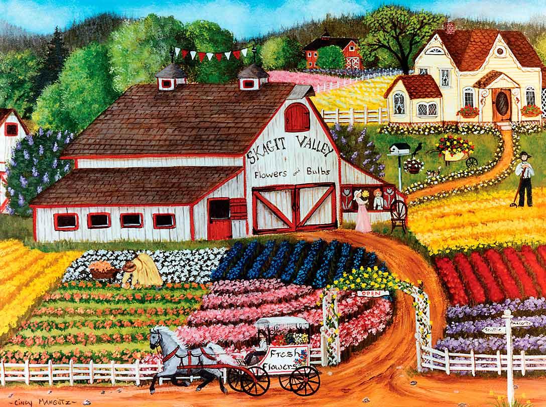 Puzzle MasterPieces Flores Frescas de 750 Piezas