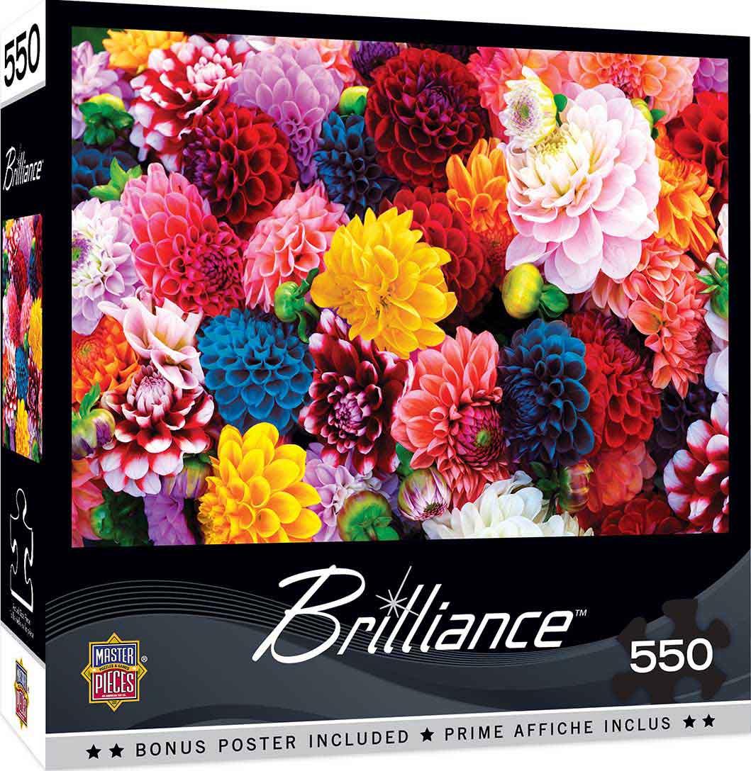 Puzzle MasterPieces Flores Hermosas de 550 Piezas