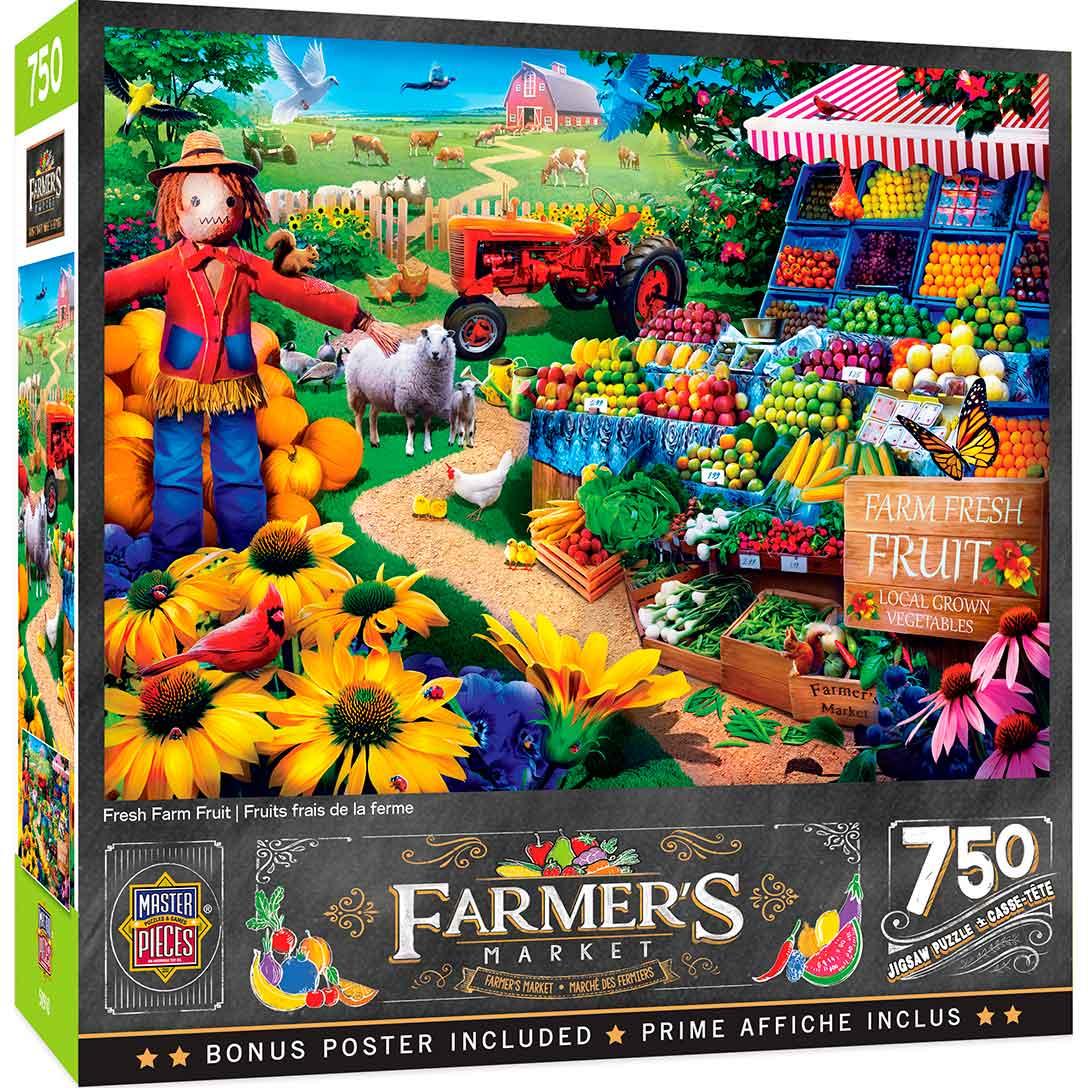 Puzzle MasterPieces Fruta Fresca de Granja de 750 Piezas