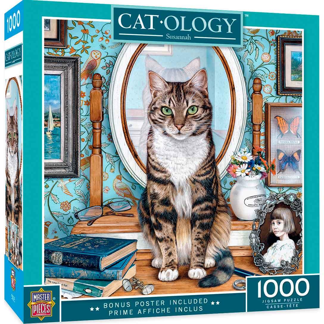 Puzzle MasterPieces Gato en la Cómoda de 1000 Piezas