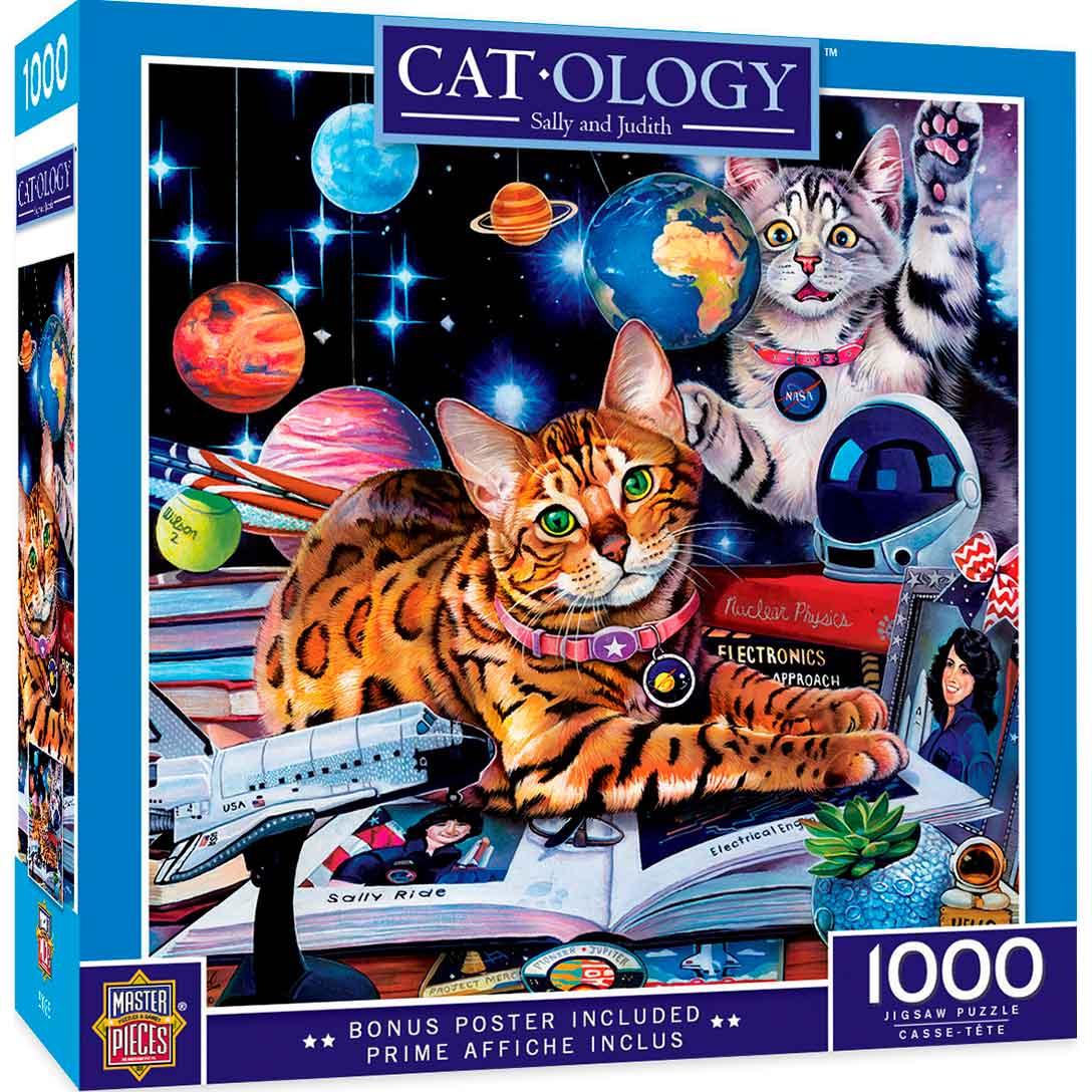 Puzzle MasterPieces Gatos del Espacio de 1000 Piezas