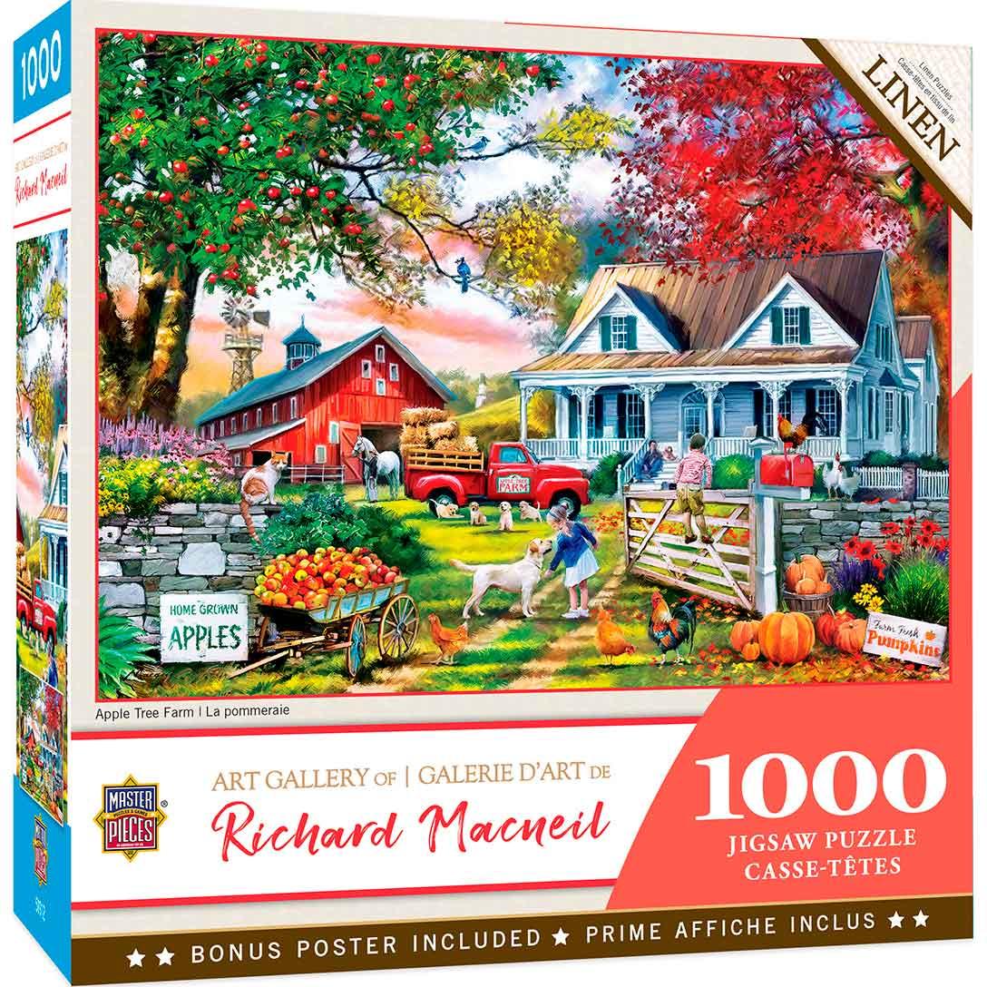 Puzzle MasterPieces Granja de Manzanos de 1000 Piezas