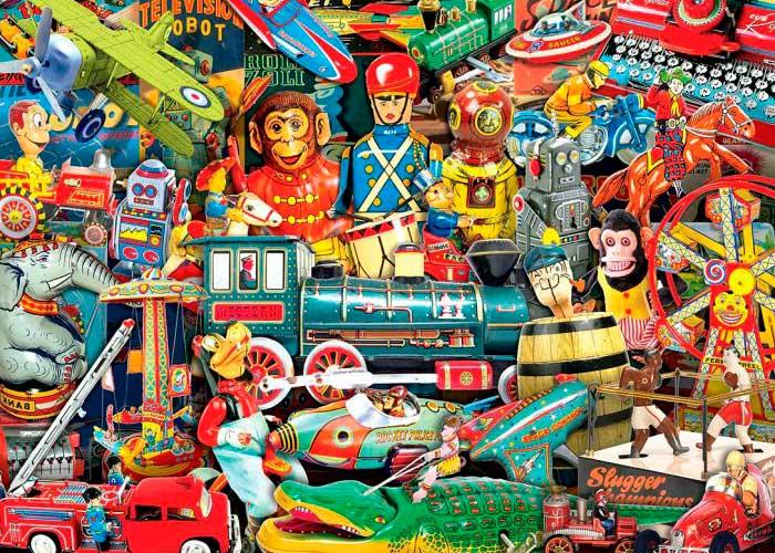 Puzzle MasterPieces Juguetes Vintage de 1000 Piezas