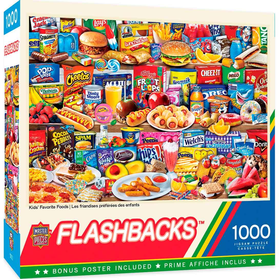 Puzzle MasterPieces La Comida Favorita de los Niños de 1000 Pzs