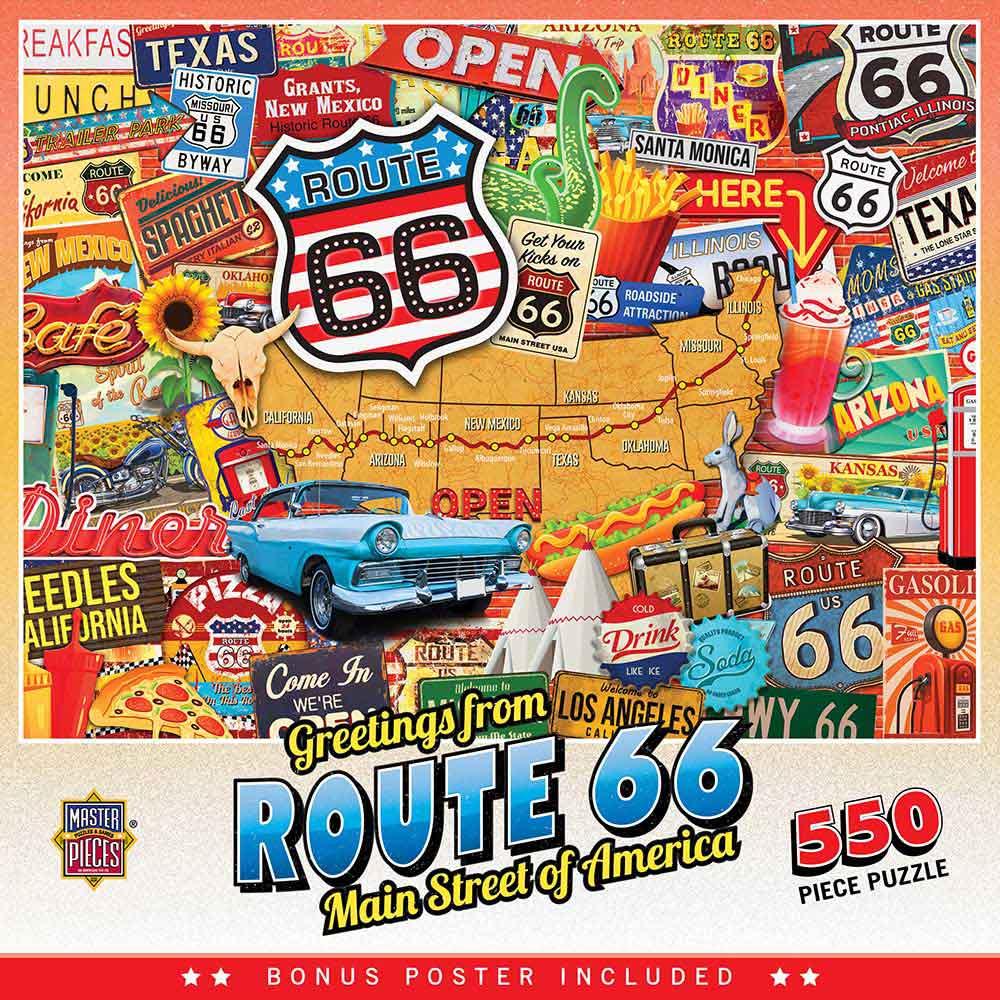 Puzzle MasterPieces La Ruta 66 de 550 Piezas
