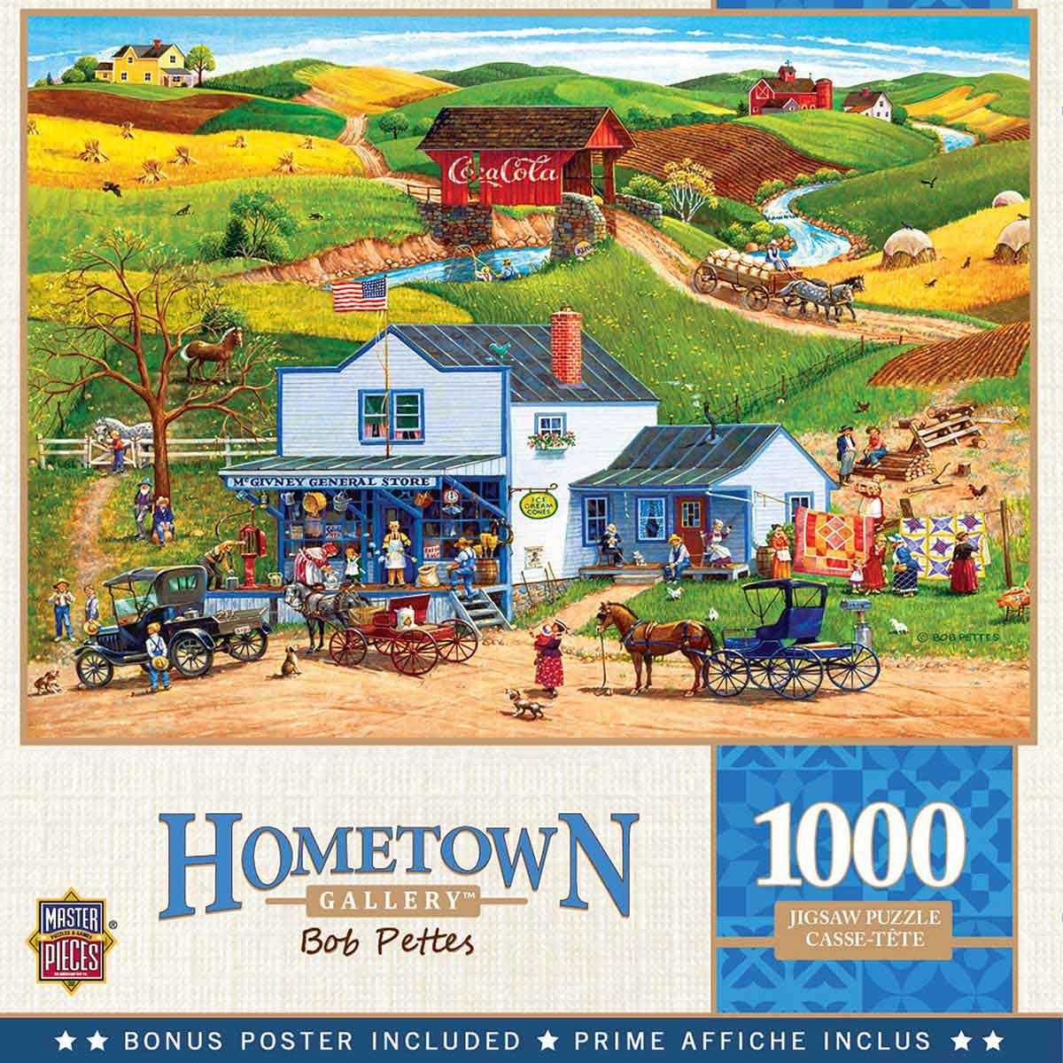 Puzzle MasterPieces La Tienda de los McGiverny de 1000 Piezas