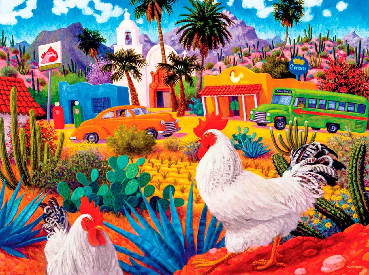 Puzzle MasterPieces Los Gallos Blancos de 550 Piezas