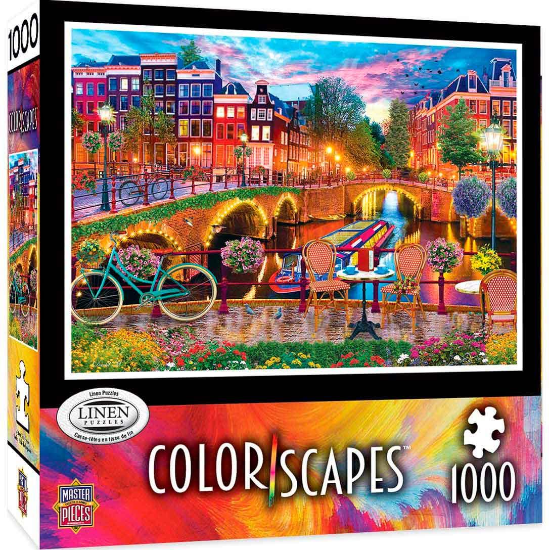 Puzzle MasterPieces Luces de Ámsterdam de 1000 Piezas