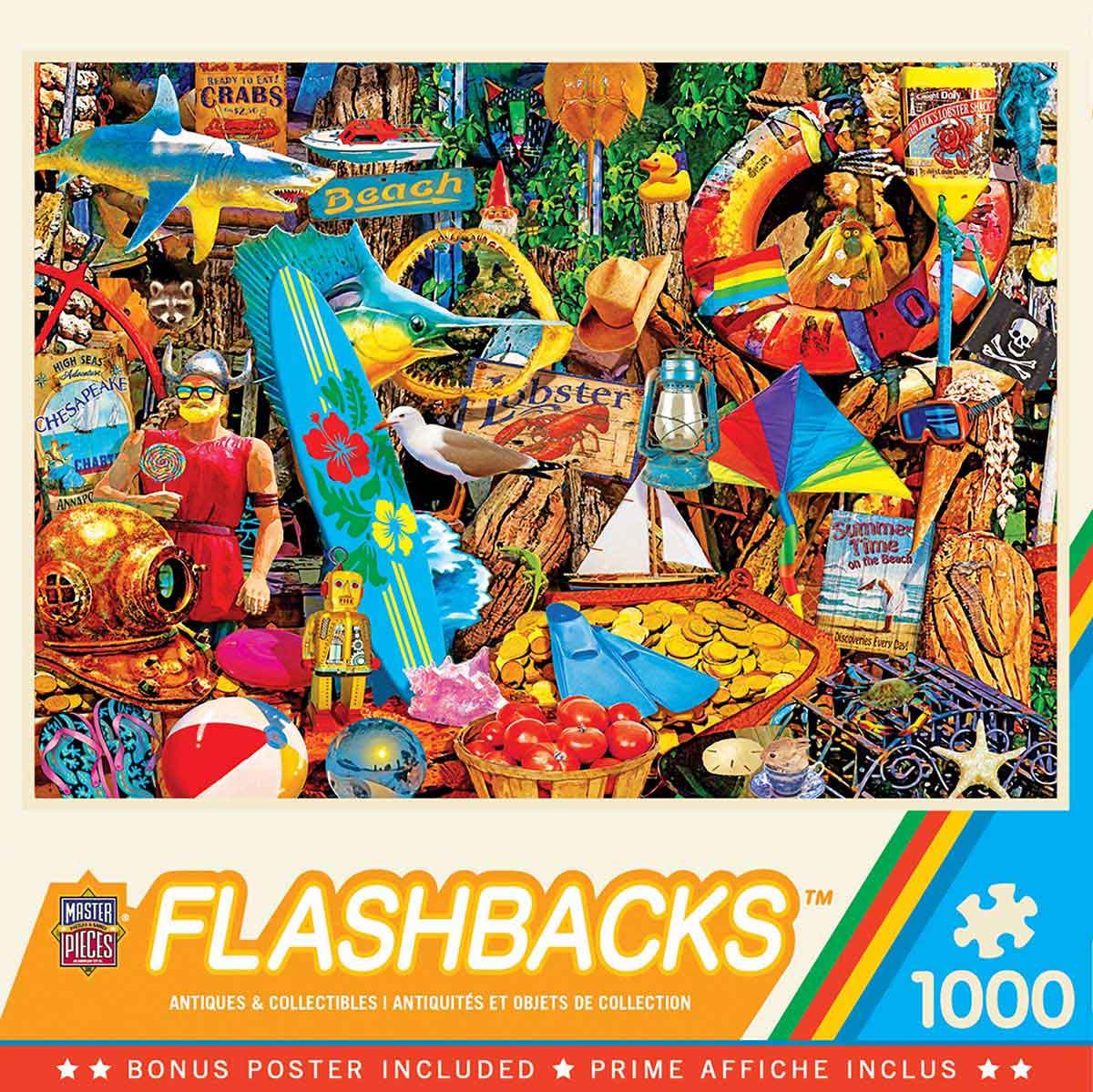 Puzzle MasterPieces Mercadillo de Beach Time de 1000 Piezas