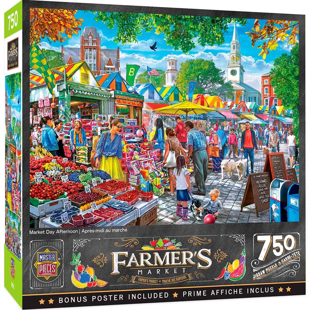 Puzzle MasterPieces Mercado de Tarde de 750 Piezas