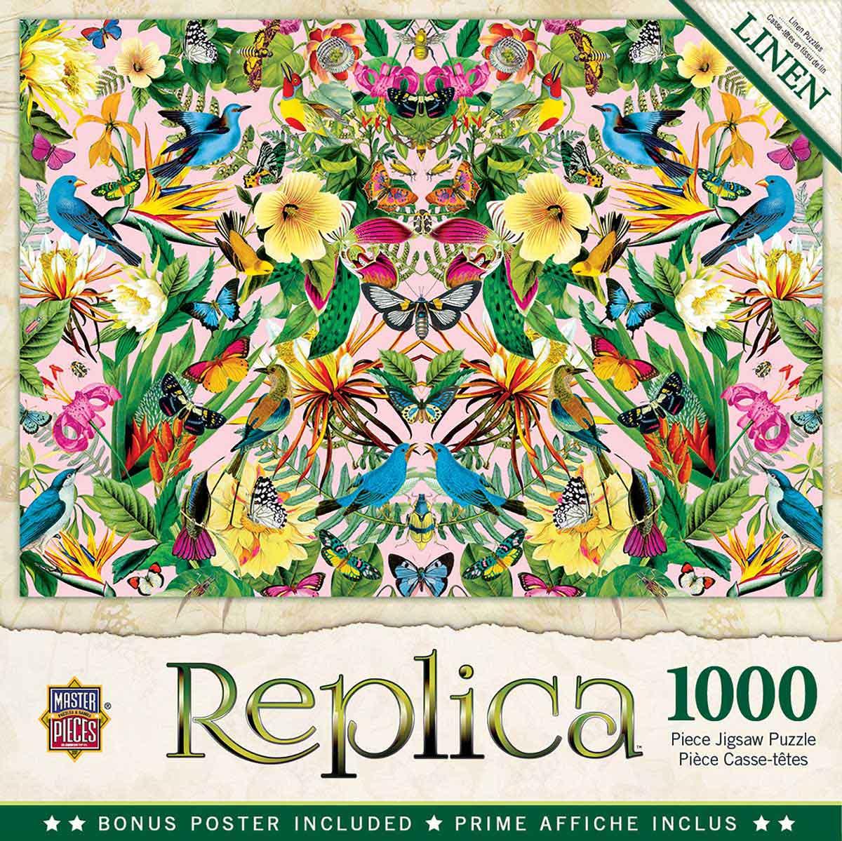 Puzzle MasterPieces Pájaros Azules y Mariposas de 1000 Piezas