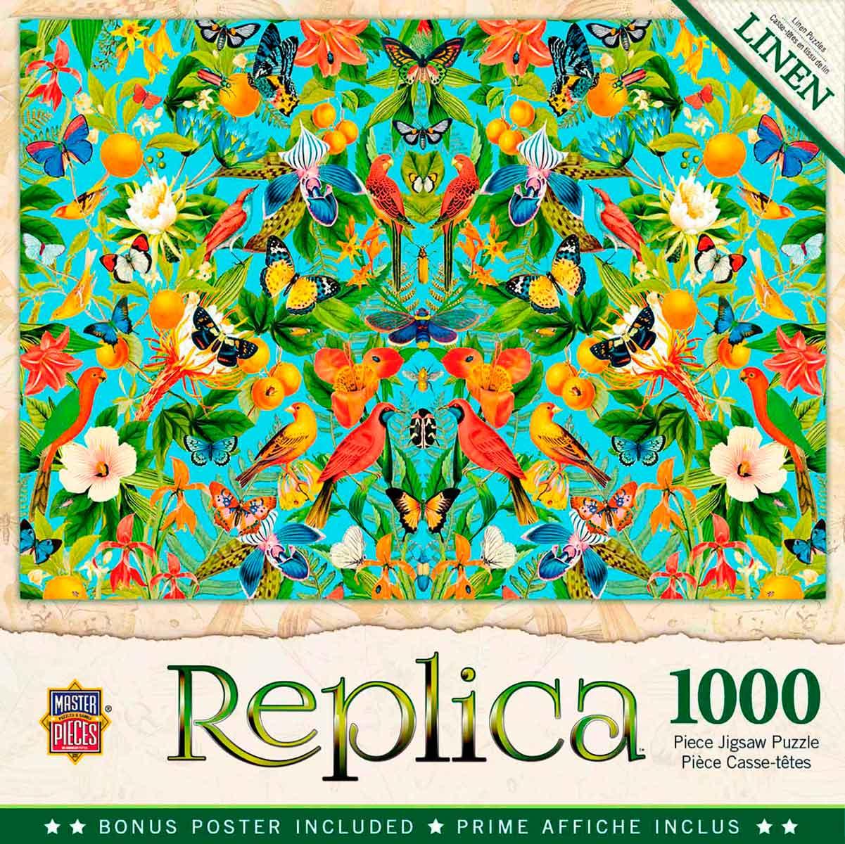 Puzzle MasterPieces Pájaros, Naranjas y Mariposas de 1000 Piezas